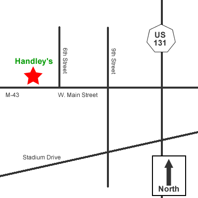 Directions to Handley's Tree Service